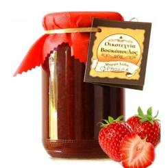 Σπιτική Μαρμελάδα φράουλα 400γρ