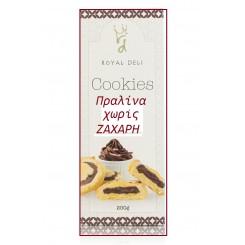 Μπισκότα  με πραλίνα χωρίς ζάχαρη 200γρ