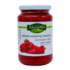 Σάλτσα κόκκινης πιπεριάς Αλμωπία 350γρ